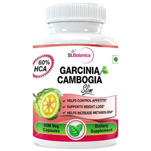 Picture of StBotanica Garcinia Cambogia Slim For Weight Loss - 100% Pure 500mg Extract - 60 Veg Caps