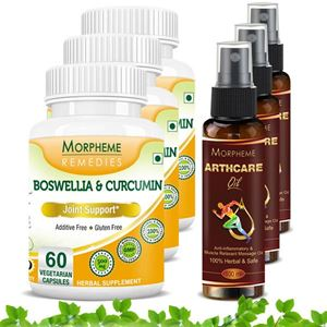 Picture of Morpheme Arthcare Oil Spray (100 ml) + Boswellia Curcumin Plus (6 Bottles)