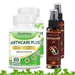Picture of Morpheme Arthcare Oil Spray (100 ml) + Arthcare Plus (4 Bottles)