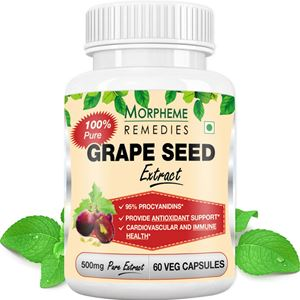 Picture of Morpheme Grape Seed Extract 500mg Extract 60 Veg Capsules