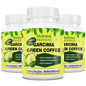 Picture of Morpheme Garcinia Green Coffee 500mg Extract  90 Veg Capsules - Buy 2 Get 1 Free