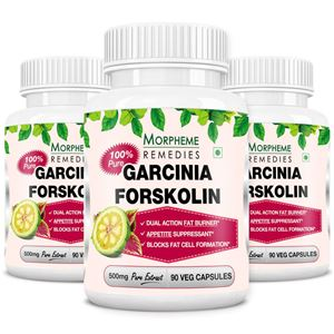 Picture of Morpheme Garcinia Forskolin Extract 500mg Extract 90 Veg Capsules - Buy 2 Get 1 Free