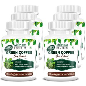 Picture of Morpheme Green Coffee 500mg Extract 90 Veg Capsules - Buy 3 Get 3 Free