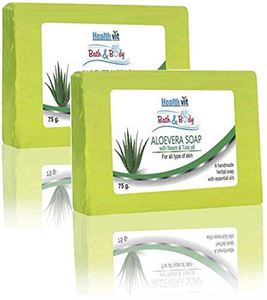Picture of Healthvit Bath & Body Aloevera Soap With Neem & Tulsi Oil