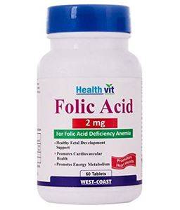 Picture of Healthvit Folic Acid 2 Mg 60 Tablets