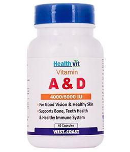 Picture of Healthvit Vitamin A & D 4000/6000 IU (60 Capsules)