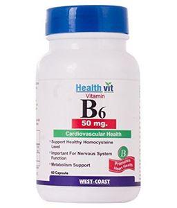 Picture of Healthvit Vitamin B6 50 Mg 60 Capsules