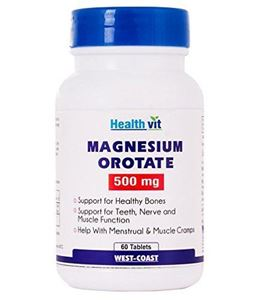 Picture of Healthvit Magnesium Orotate 500 Mg 60 Tablets