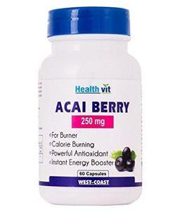 Picture of Healthvit Acai Berry 250mg 60 Capsules