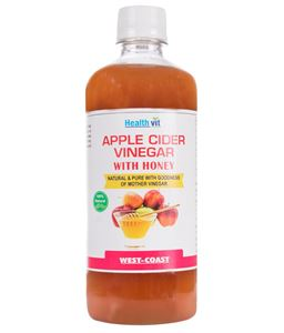 Picture of Healthvit Apple Cider Vinegar  With Honey Natural & Pure With Goodness Of Mother Vinegar 500ml