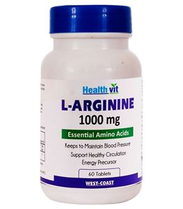 Picture of Healthvit L-Arginine 1000 mg 60 Tablets