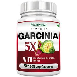 Picture of Morpheme Garcinia 5X (Garcinia, Coffee, Green Tea, Forskolin, Grape Seed) 60 Veg Caps