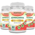 Picture of Morpheme Ashwagandha (Withania somnifera) - 500mg Extract 60 Veg Caps - 3 Bottles