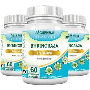 Picture of Morpheme Bhringraja (Eclipta Alba) 500mg Extract 60 Veg Caps - 3 Bottles