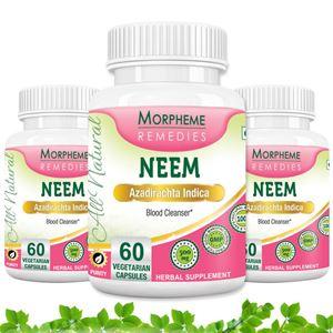 Picture of Morpheme Neem 500mg Extract 60 Veg Caps - 3 Bottles