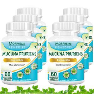 Picture of Morpheme Mucuna Pruriens (Kapikachhu) - 500mg Extract - 60 Veg Caps - 6 Bottles