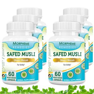 Picture of Morpheme Safed Musli 500mg Extract 60 Veg Caps - 6 Bottles