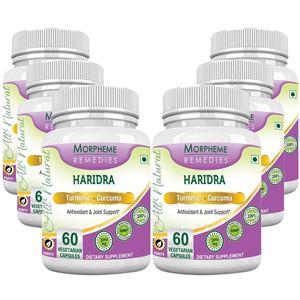 Picture of Morpheme Turmeric Curcumin (Haridra) 500mg Extract 60 Veg Caps - 6 Bottles