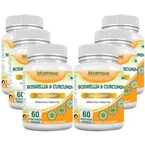 Picture of Morpheme Boswellia & Curcumin 500mg Extract 60 Veg Caps - 6 Bottles