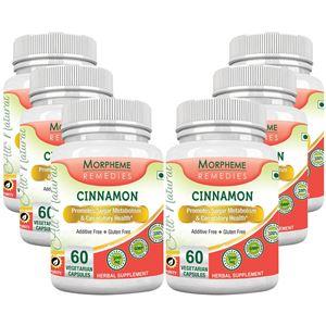 Picture of Morpheme Cinnamon 500mg Extract 60 Veg Caps - 6 Bottles