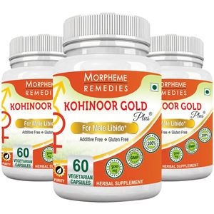 Picture of Morpheme Kohinoor Gold Plus 500mg Extracts 60 Veg Caps - 3 Bottles