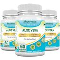 Picture of Morpheme Aloe Vera 500mg Extract 60 Veg Caps - 3 Bottles