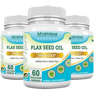 Picture of Morpheme Flaxseed - Omega 3,6,9 - 500mg Extract 60 Veg Caps - 3 Bottles