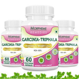 Picture of Morpheme Garcinia Cambogia Triphala - 500mg Extract 60 Veg Caps - 3 Bottles