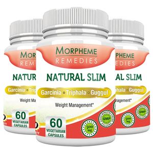 Picture of Morpheme NaturalSlim (Garcinia) 500mg Extract 60 Veg Caps - 3 Bottles