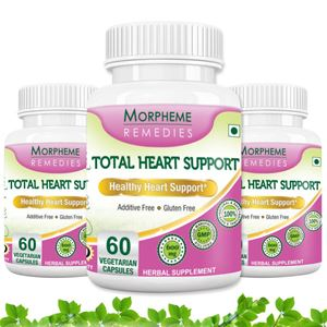 Picture of Morpheme Total Heart Support- 500mg Extract - 60 Veg Caps - 3 Bottles