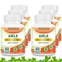 Picture of Morpheme Amla Caps Vitamin C & AntiOxidant 500mg Extract 60 Veg Caps - 6 Bottles