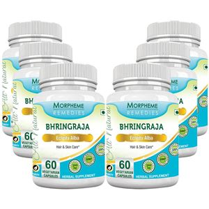 Picture of Morpheme Bhringraja (Eclipta Alba) 500mg Extract 60 Veg Caps - 6 Bottles