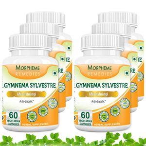 Picture of Morpheme Gymnema Slyvestre (Meshshringi) 500mg Extract 60 Veg Caps - 6 Bottles