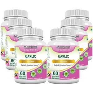 Picture of Morpheme Garlic 500mg Extract - 60 Veg Caps - 6 Bottles