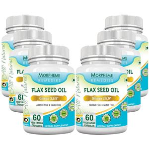 Picture of Morpheme Flaxseed - Omega 3,6,9 - 500mg Extract 60 Veg Caps - 6 Bottles