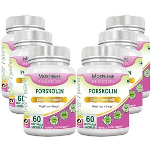 Picture of Morpheme Forskolin - 20% Coleus Forskohlii & Energy - 500mg Extract 60 Veg Caps - 6 Bottles