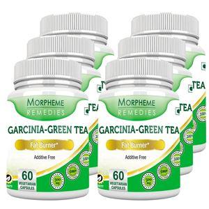 Picture of Morpheme Garcinia Cambogia Green Tea - 500mg Extract 60 Veg Caps - 6 Bottles