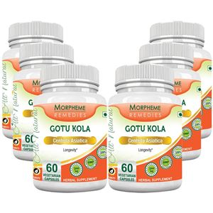 Picture of Morpheme Gotu Kola 500mg Extract 60 Veg Caps - 6 Bottles