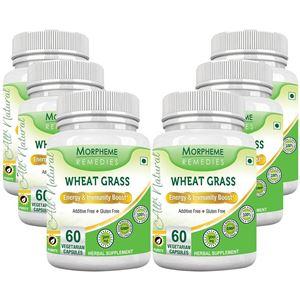 Picture of Morpheme Wheatgrass Supplements 500mg Extract 60 Veg Caps - 6 Bottles