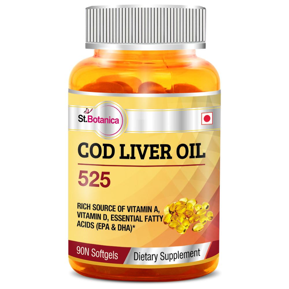 St botanica cod liver oil 525 90 softgets 6 bottles for Fish oil weight gain