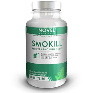 Picture of SMOKILL TM 800 MG CHEWABLE TABLET- RELIEVES FROM SMOKING