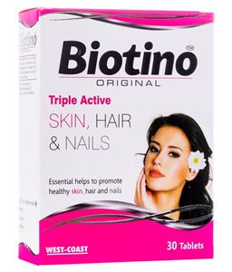 Picture of West Coast Biotino ORIGINAL (Biotin: Hair, Skin & Nails) 30 Tablets
