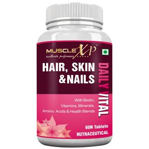 Picture of MuscleXP Hair, Skin & Nails Complete MultiVitamin with Biotin - 60 Tablets