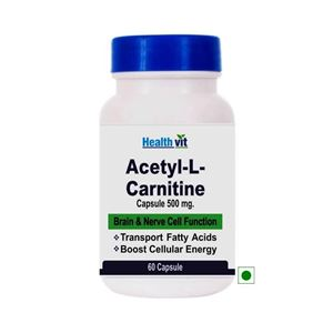 Picture of Healthvit Acetyl-L-carnitine 500mg 60 Capsules