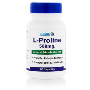 Picture of Healthvit L-Proline 500mg 60 Capsules