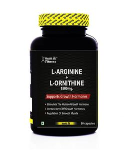 Picture of Healthvit Fitness  L-Arginine + L-Ornithine 1500mg 60 Capsules