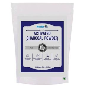 Picture of Healthvit Activated Charcoal Rejuvenates Skin and Hair, Detoxifies, Helps with Digestion (250g)