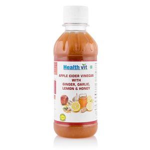 Picture of Healthvit Apple Cider Vinegar With Ginger,Garlic,Lemon  & Honey 250ml