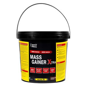 Picture of Healthvit Fitness Mass Gainer Xtra Chocolate Flavor | 5KG 11.02 lbs