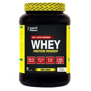 Picture of Healthvit 100% Ultra Premium Whey Protein | 1KG 2lbs ( Vanilla flavour )